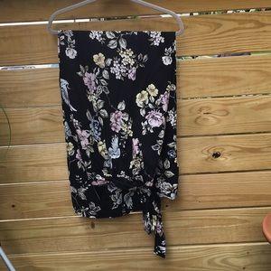 Torrid black palazzo pant with floral print
